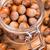 hoop · hazelnoten · geïsoleerd · witte · textuur · voedsel - stockfoto © grafvision