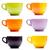 gekleurd · porselein · rij · geïsoleerd · witte - stockfoto © grafvision