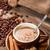 csésze · erős · reggel · kávé · barnacukor · kávészünet - stock fotó © grafvision