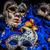 karnaval · maske · mavi · tüy · yüz · soyut - stok fotoğraf © grafvision