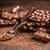 chocolate · nozes · madeira · comer · doce - foto stock © grafvision