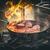 steak · oeuf · table · pétrolières · viande - photo stock © grafvision