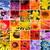 összetett · kép · kék · bejövő · üzenetek · lila · üzlet - stock fotó © grafvision