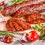 fatias · salame · salsicha · verde · carne · pimenta - foto stock © grafvision