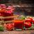 sok · pomidorowy · szkła · świeże · pomidory · vintage - zdjęcia stock © grafvision