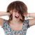 frustré · colère · femme · hurlant · sur · fort - photo stock © grafvision
