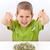 少年 · 緑 · 食品 · 白 · 手 - ストックフォト © grafvision