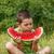 ragazzo · mangiare · anguria · esterna · faccia · divertimento - foto d'archivio © grafvision