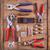 革 · ツール · 真鍮 · リング · 木板 - ストックフォト © grafvision