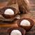 branco · chocolate · coco · bola · de · neve · doce · sobremesa - foto stock © grafvision