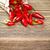 kırmızı · çanta · boyalı · ahşap · gıda - stok fotoğraf © grafvision