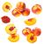 collectie · perziken · geïsoleerd · witte · natuur · vruchten - stockfoto © grafvision