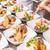 aperitivos · pan · salmón · requesón · cena · tomate - foto stock © grafvision