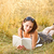 женщину · Ложь · трава · книга · лет · области - Сток-фото © grafvision