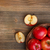 fresche · rosso · mele · basket · tavolo · in · legno - foto d'archivio © grafvision