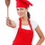 Woman dressed as a cook stock photo © grafvision