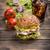 hamburger · cam · kola · buz · akşam · yemeği · et - stok fotoğraf © grafvision