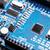integrált · mikrocsip · kék · nyáklap · technológia · hálózat - stock fotó © grafvision