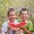 twee · picknick · foto · park · broers - stockfoto © grafvision