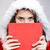 mulher · jovem · vermelho · traje · conselho · menina - foto stock © grafvision