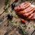 prosciutto · vintage · houten · tafel · diner · zwarte - stockfoto © grafvision