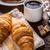 kávé · croissant · csésze · étel · friss · cukor - stock fotó © grafvision