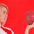 ハンドボール · プレーヤー · 女性 · 行使 · 孤立した - ストックフォト © grafvision