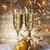 шампанского · очки · Рождества · вино · стекла · золото - Сток-фото © grafvision