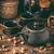 vasaló · klasszikus · teáskanna · csészék · aszalt · különböző - stock fotó © grafvision