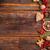 Noel · kurabiye · metin · neşeli · atış · ahşap · masa - stok fotoğraf © grafvision