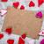 ハンドメイド · 心 · 白紙 · 絞首刑 · ロープ · 赤 - ストックフォト © grafvision