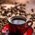 kávéscsésze · csészealj · űr · kávé · fekete · csésze - stock fotó © grafvision