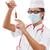 nők · gyógyszer · maszk · hideg · influenza · betegség - stock fotó © grafvision