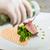 szakács · befejezés · tányér · kész · étel · kéz - stock fotó © grafvision