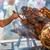 nyárs · marhahús · mangó · étel · vacsora · saláta - stock fotó © grafvision