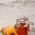 miele · moderno · vetro · pot · legno · sfondo - foto d'archivio © grafvision