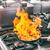 profesional · chef · vino · sartén · carne - foto stock © grafvision