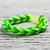 armband · groene · houten · weefsel · band · rubber - stockfoto © grafvision