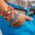 regenboog · armband · houten · mode · oranje · zwarte - stockfoto © grafvision