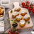 bruschetta · szendvics · túró · fából · készült · vágódeszka · étel - stock fotó © grafvision