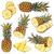friss · szelet · ananász · fából · készült · gyümölcs · zöld - stock fotó © grafvision