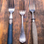ヴィンテージ · 銀食器 · 素朴な · 木製 · 食品 · 木材 - ストックフォト © grafvision