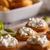 bruschetta · fromage · cottage · tomates · servi · blanche · alimentaire - photo stock © grafvision