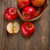 vers · Rood · appels · mand · houten · tafel - stockfoto © grafvision