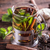herbata · ziołowa · szkła · kubek · mięty · liści · tle - zdjęcia stock © grafvision