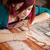 malarstwo · kobiet · jeden · strony - zdjęcia stock © grafvision