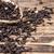 スプーン · 黒 · 茶 · 嘘 · 黄麻布 · テクスチャ - ストックフォト © grafvision