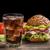 cheeseburger · cola · ghiaccio · cena · carne - foto d'archivio © grafvision