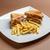 Club · Sandwich · Kartoffel · geröstetes · Weißbrot · Fleisch - stock foto © grafvision