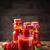 bottiglia · succo · di · pomodoro · maturo · pomodori · isolato · bianco - foto d'archivio © grafvision